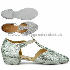 Girls Ladies Roch Valley Greek Sandals Ballet Dance Character Shoes Glittery GGS