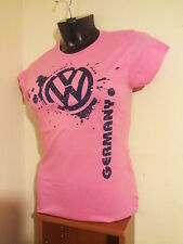 VW Volkswagen Ladies Germany Tee Shirt GTI VR6 1.8T 2.0 Jetta Passat Golf MK