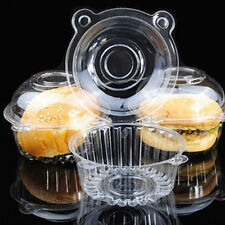 100/200 Clear Plastic Single Cupcake Cake Case Muffin Dome Holder Box Container