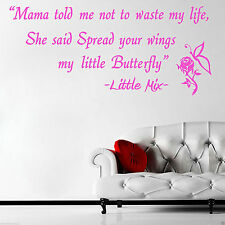 Little Mix Spread Your Wings WallArt Sticker Lounge Any Colour Any Size Free P&P