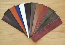 LEATHER COWHIDE OFF CUTS 25CM X 5CM ASSORTED COLOURS  IDEAL FOR WATCH STARPS