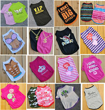 Summer Various Pet Puppy Small Dog Cat Pet Clothes Vest T Shirt Apparel 55 Types