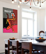 Stretched Canvas Art French Vintage Poster BALLY DIPTYQUE Villemot 3 Large Sizes