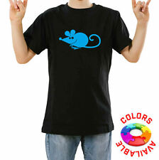 Mens & Kids Cotton T-Shirt FAT MOUSE FUNNY Printed no pattern Short Sleeve