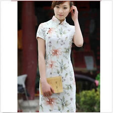 New Chinese Women's leaves Mini Cheongsam Evening Dress/QiPao Fashion