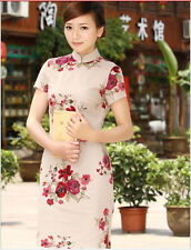 New Chinese Women's Rose Mini Cheongsam Evening Dress/QiPao Fashion