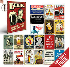 RETRO & VINTAGE FUN ALCOHOL Sign POSTERS Wall Art Print * Nostalgic Advertising