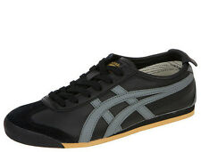 ONITSUKA TIGER Asics Mens MEXICO 66 HL202 Sneakers Shoes [ Black / Grey / Gold ]