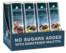CAVALIER SUGAR FREE DIABETIC INULIN LOW CARB DIET BELGIAN CHOCOLATE BARS  GIFT