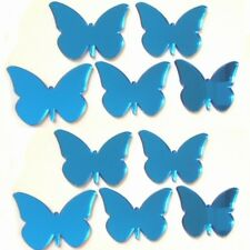 Blue Mirrored Butterflies Crafting & Decorative 3mm Acrylic Mirror & Sticky Pads