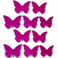 Pink Mirrored Butterflies Crafting Decorative 3mm Acrylic Mirror & Sticky Pads