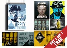 BREAKING BAD BEST POSTERS * Home Wall Art Deco *BUY2 GET1 FREE * A3 / A4 SIZES
