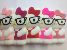 Hello Kitty Silicon Case for iPhone 4/4s with Glasses