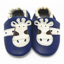 Toddller Soft Sole Sheep Leather Crib Shoes Baby Infant Newborn Up to 3 Years