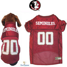 NCAA Pet Fan Gear FLORIDA STATE SEMINOLES Dog Jersey Shirt Dogs BIG SIZE XS-2XL