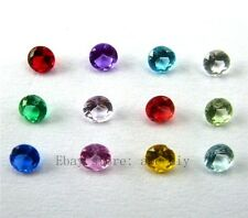 12pcs round 3*3mm  Crystal Birthstone Charms For Living Floating locket