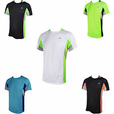 More Mile More-Tech Mens Short Sleeve Running Gym T-Shirt Tee Top MM1878-MM1882