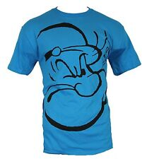 Popeye Mens T-Shirt - Giant Squinting Popeye Face Image