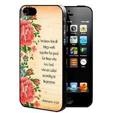 Romans 8-28 bible verse With Rose iPhone Hard Case Cover For iPhone 4 4s 5 5s 5c