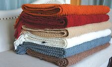 BNF HOME Bedding Knitted Tweed Throw Couch Cover Blanket Light Weight and Warm
