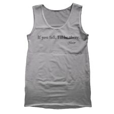 IF YOU FALL FLOOR funny cool fall floor quote clumsy awesome TANK TOP GRAY