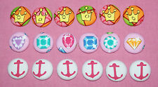 CROWN/JEWELS/ANCHORS FABRIC COVERED BUTTONS available in 25mm size