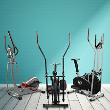 2-IN-1 ELLIPTICAL CROSS TRAINER & EXERCISE BIKE WITH SEAT FITNESS CARDIO WORKOUT