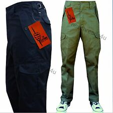 "Mens Cargo Combat Work Trousers Black , Navy & Green in  Leg Length  29"" & 32"""