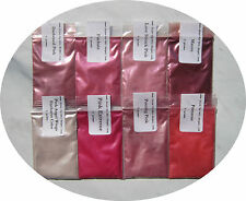 Cosmetic Grade Mica Powders-5 g = 1/6 oz Bags-Shades of Pink-12 Choices