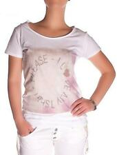 T-shirt PLEASE JEANS WOMAN M38 M43 MADE ITALY COTTON SHORT SLEEVE SHIRT NEW 1333