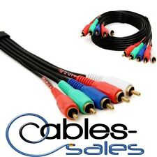 3ft to50ft COMPONENT VIDEO CABLE WITH AUDIO 5 RCA For VIDEO CAMERAS HDTV DVD VCR
