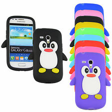 PINGUIN SAMSUNG GALAXY S2 S3 S3 MINI S4  S4 MINI APPLE IPHONE 3 4 5 SCHUTZHÜLLE