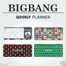 BIGBANG - kpop Special Edition Official Goods : Weekly Monthly Schedule Planner
