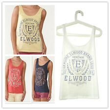 New Elwood lady's Golden AGE tank top Singlet White Navy Yellow Coral XS S M L