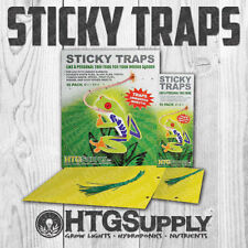 Yellow Sticky Traps Aphid Whitefly Thrips Spider Mites New Xl Size! 10 50 100 pc