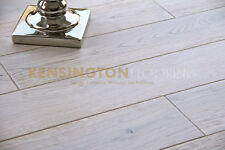 150mm White Oak Flooring *Shabby Chic* Brushed Lacquered Real Wooden Wood Floor