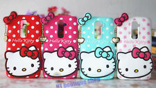 3D Cartoon Hello Kitty soft Silicone cover for LG Optimus G2/G3 Cell phone case