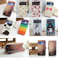Cute Card Stand Leather Wallet View Window Flip Cover Case for Samsung Galaxy S4