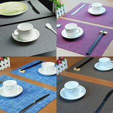 Luxury PVC Placemats Skid Resistance Bowl Pad Table Mat Coasters 6 Colors