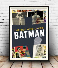 Boy who loved Batman : Old book  Poster reproduction