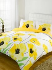Duvet Cover Bedding Set Yellow & White Single Double King Size Super King Size