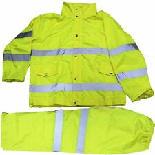 Traffic Safety Rain Suit High Visibility Reflective Rain Coat Jacket W/ hood