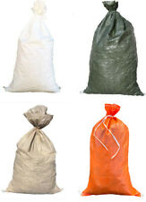 "Sandbags For Sale w/ties 14""x26"" For Emergency Flood Barriers, Sandbag, Poly Bag"