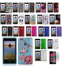 Nokia Lumia 521 T-Mobile Hard Shell Snap-On Case Cover + Screen Protector