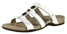 WOMEN'S TAOS PRIZE LEATHER SANDALS COLOR: PEARL WHITE