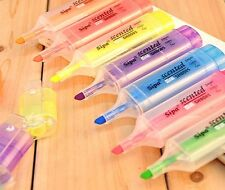9859 Colorful Highlighter Crystallise Mark Pen Watercolor Pencil Stationery 1PC^