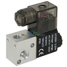 "3 way 2 position Solenoid Valve Air BSP 1/8"" DC/AC Direct Pneumatic Electric"