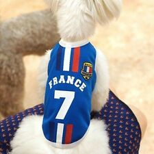 World Cup Dog T-shirt BLUE FRANCE Dog Pet Outfit Clothing Cotton Dog Apparel