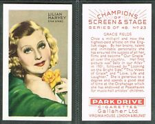 Gallaher - Champions of Screen & Stage (Red) 1934 #1-#48 Movie Cigarette Cards