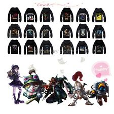 LOL Hero Roles League of Legends Shield Crest Zip-Up Hoodie for Autumn/Winter